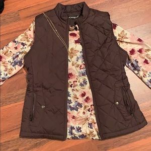 Adorable Allegra K Brown Vest